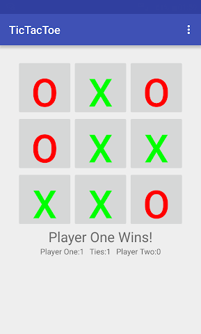 android TicTacToe Screenshot 2