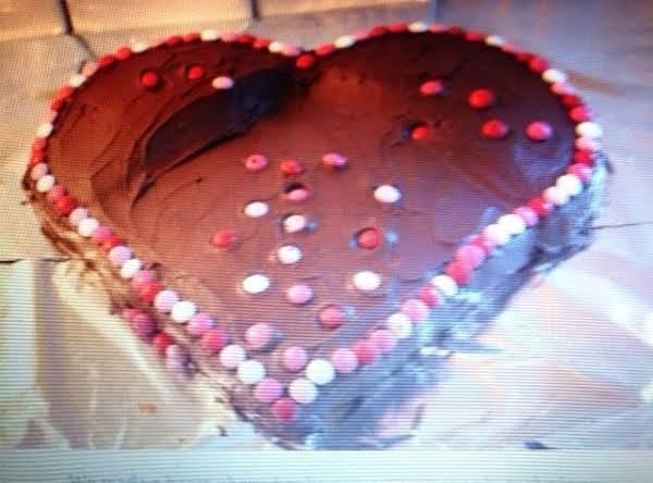 Easy Heart Shaped  Valentine Cake