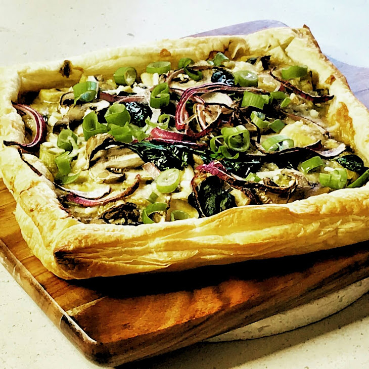 Creamy Mushroom Tart (Vegan) Recipe