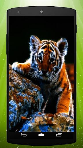 Neon Tiger Live Wallpaper