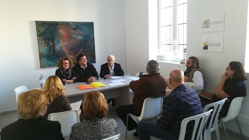 Asamblea celebrada del organismo comarcal en el municipio de Garrucha este martes.
