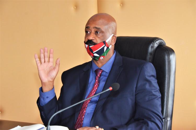 Nairobi Metropolitan Service Director General Mohammed Badi in a meeting on May 21, 2020 at KICC. Image: COURTESY