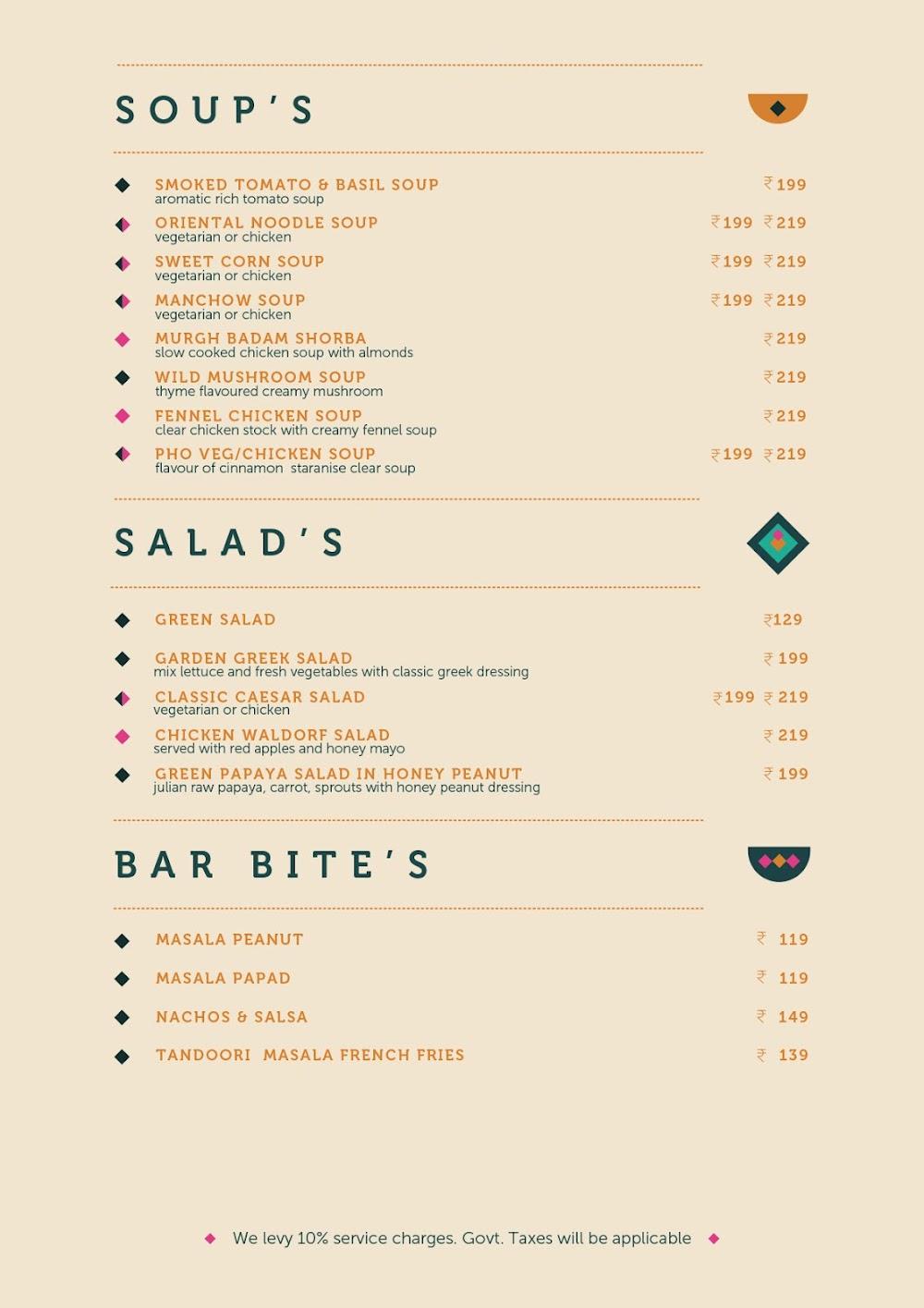 Anardana Modern Kitchen & Bar menu 3