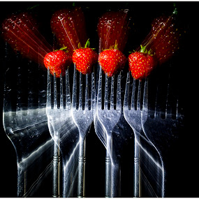Strawberries by Brian Rogers - Food & Drink Fruits & Vegetables ( abstract, fruit, still life, food, strawberries )