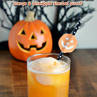 Jack-O-Lantern Juice (Orange Pineapple Sherbet Punch)