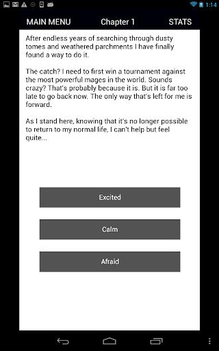 Magium - Text adventure (CYOA) Screenshot