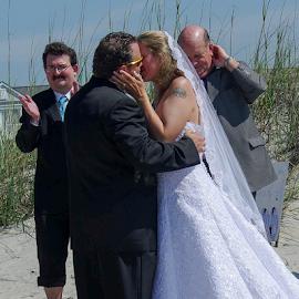 by Myra Brizendine Wilson - Wedding Ceremony ( couple, groom, holden beach, bride and groom, wedding on beach, wedding, event, wedding on holden beach,  )