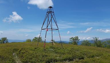 Photo: A Kruhla (1209 m) magassági pontján találtunk a második ellenőrzőpont lyukasztóját