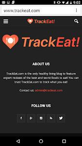 TrackEat - Healthy Living screenshot 0