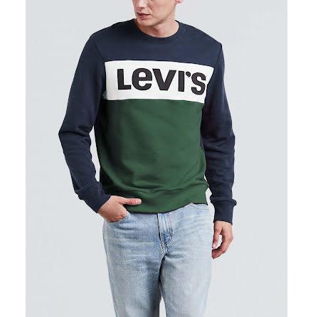 Levi's Colorblock crewneck dress blues