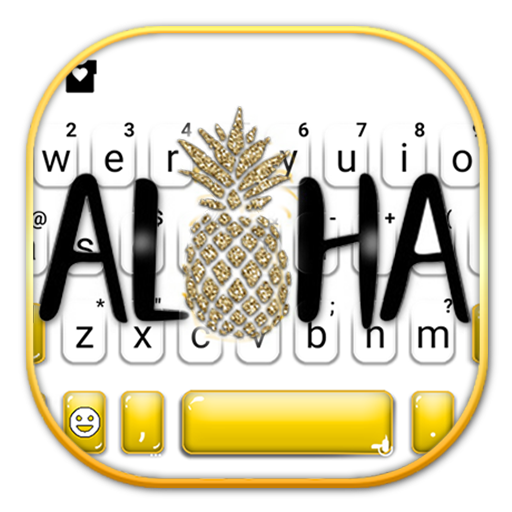Golden Aloha Pineapple Keyboard Theme Android APK Download Free By Powerful Phone