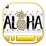 Golden Aloha Pineapple Keyboard Theme
