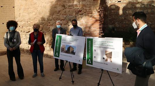 Alcazaba: obras en la Torre de la Guardia y los aseos del primer recinto