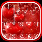 Red Heart Love Keyboard Theme APK for Bluestacks