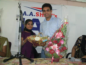 Photo: UPSC Toppers Seminar 2012 with Mrs. Bilquees Khatri, toppers Mr. Ajay Kumat AIR 679 at A A SHAH's IAS Institute, FORT