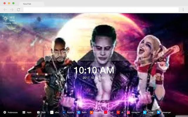 Suicide Squad Pop DC HD New Tabs Theme