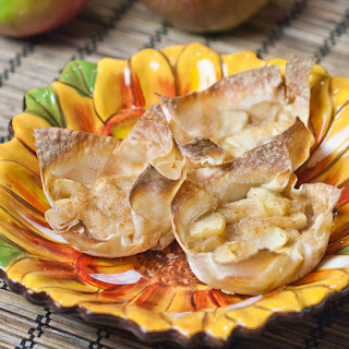 Mini Apple Pies in Wonton Wrappers.