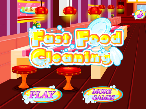 Fast Food Cleaning Games