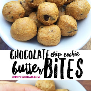 Chocolate Chip Cookie Butter Energy Bites.