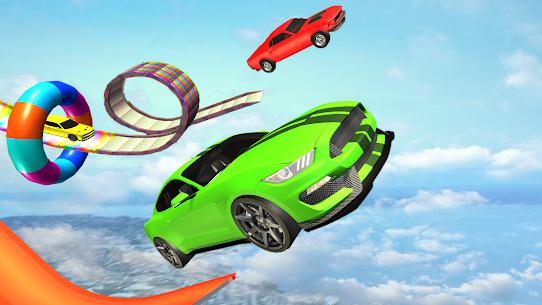 US Muscle car stunts 3D mega ramp car: impossible 4