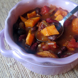 Spicy Sweet Potato & Bean Chili