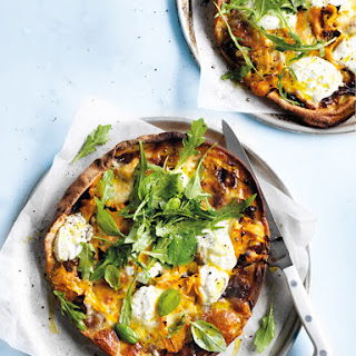 Cheat's Pumpkin And Smoked Mozzarella Pizzas