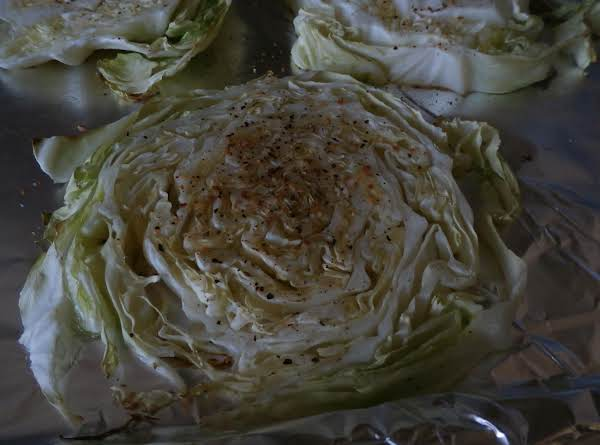 Baked Seasoned Cabbage Slices
