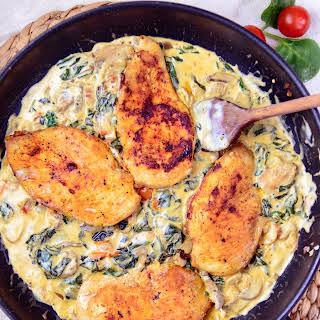 Creamy Spinach Mushroom Chicken Breast.