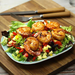 Prawns with Pineapple & Capsicum Salsa