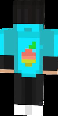 un simple sudadera celeste con atras un mango :P