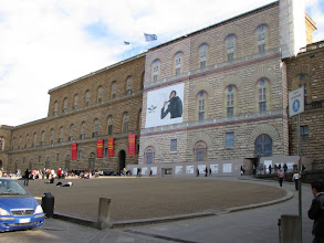 Photo: Pitti Palace. The lighter part is a screen covering renovation of part of the building