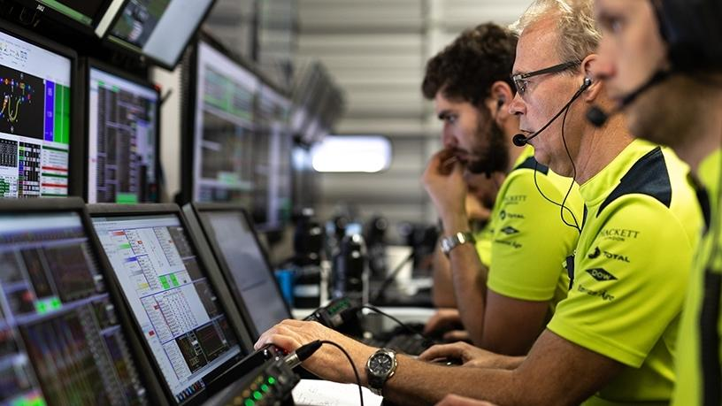 Spirent's technical partnership with Aston Martin Racing has dramatically reduced the team's high-speed LAN test and set-up time at FIAWEC events. (Photo: Business Wire).
