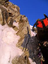 Photo: Pasando la zona intermedia de rocas donde había un anillo de seguro.
