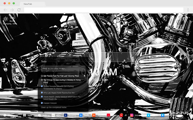 Motorcycle Hot Car HD New Tabs Theme