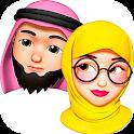 Memoji Hijab Islamic Muslim Stickers for WhatsApp icon