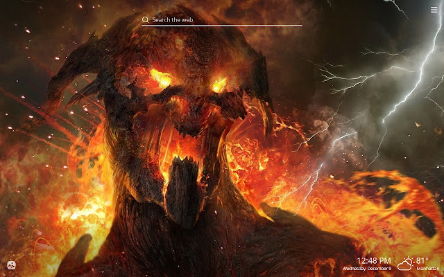 Scary Demons Hd Wallpapers New Tab Theme