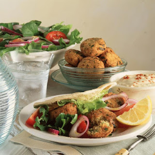 Falafel with Tahini Sauce.