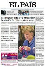 Photo: El Eurogrupo abre la vía para aplicar la solución de Chipre a otros países, el rescate obliga a Nicosia a liquidar su paraíso fiscal, la juez sostiene que la consultora de los ERE sobornó a altos cargos de la Junta y España apela a su estilo ante la crucial cita con Francia, en la portada de EL PAÍS. http://srv00.epimg.net/pdf/elpais/1aPagina/2013/03/ep-20130326.pdf
