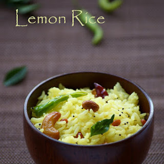 Lemon Rice Recipe - Nimmakaya Pulihora Recipe - Chitranna Recipe - South Indian Recipes