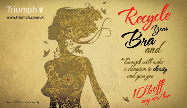 Photo: STANDOUT strategic offline creative for Triumph 'Recycle Your Bra' campaign