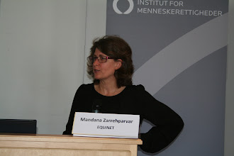Photo: Mandana Zarrehparvar from the Danish Institute for Human Rights and former Equinet Board Chair
