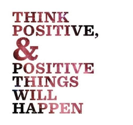 Resultado de imagen para be positive