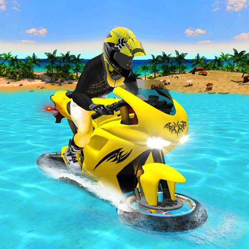 Water Surfer Motorbike Racer