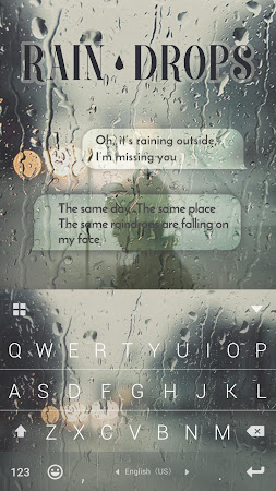 Rain Drops Kika Flat Theme 40.0 screenshot 2087750