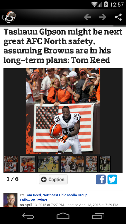 Cleveland Football News- screenshot