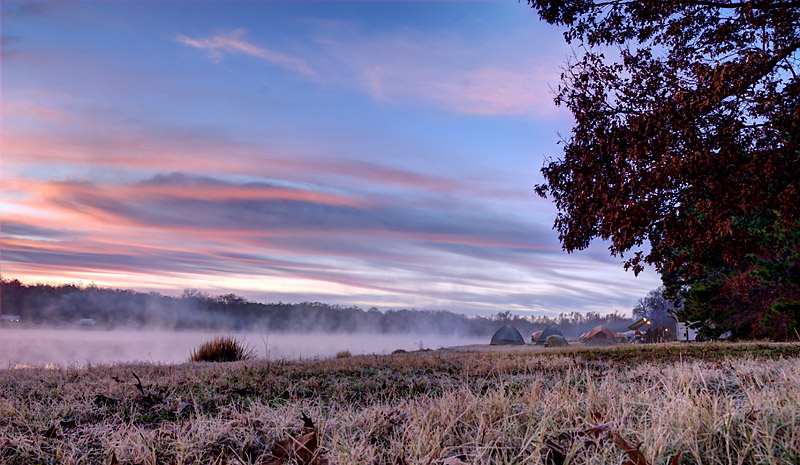 Photo: Sunrise at Winter Camp by Douglas Athas