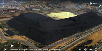 Bild aus Video. Industrie-Landschaft von oben, Halde.
