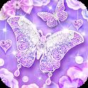 Purple Diamond Butterfly Live Wallpaper icon