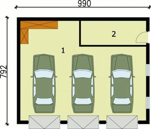 G62 - Rzut garażu