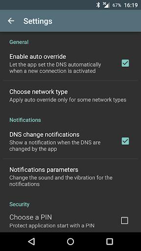 Override DNS (a DNS changer) screenshot